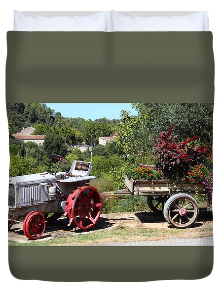 Duvet Cover featuring the photograph New Pastures by Richard Patmore