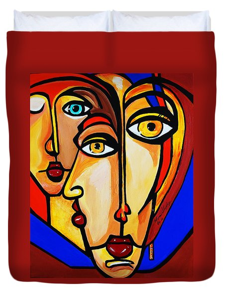 New Picasso By Nora Friends Duvet Cover by Nora Shepley