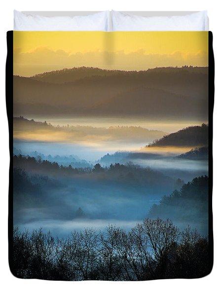 New River Fog Duvet Cover