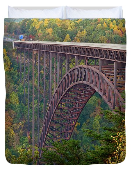 New River Gorge Bridge Duvet Cover