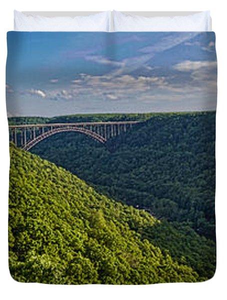 New River Panoramic Duvet Cover