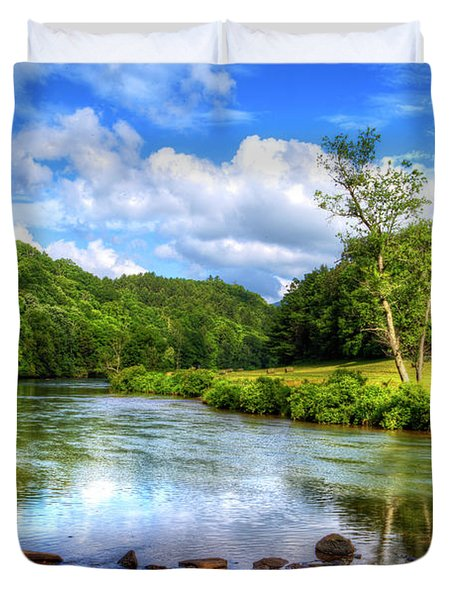New River Summer Duvet Cover by Dale R Carlson