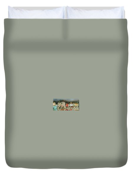 New Ross Quays Panorama Duvet Cover