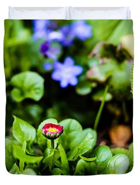 New Season For Bellis Perennis Bellissima Red Duvet Cover