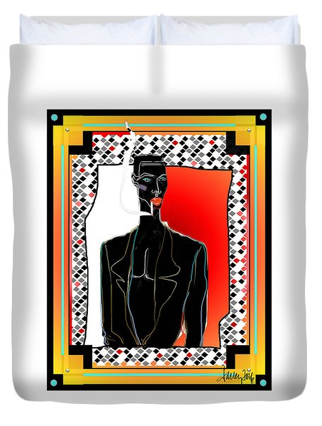 Amazing Grace Jones Duvet Cover