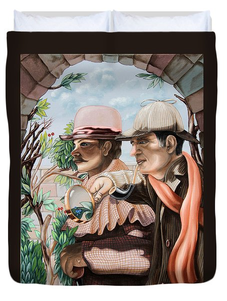 New Story By Sir Arthur Conan Doyle About Sherlock Holmes Duvet Cover