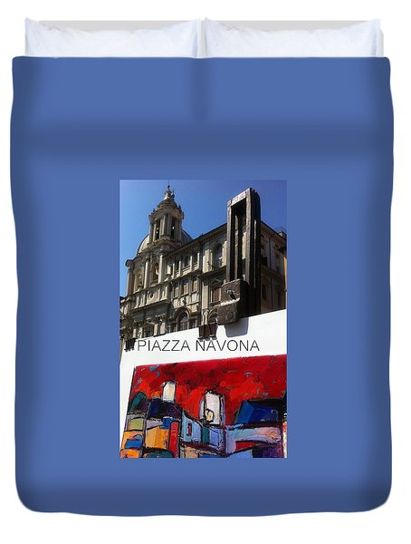 new work Piazza Navona Duvet Cover