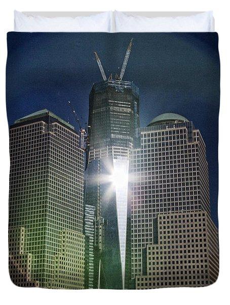 New World Trade Center Duvet Cover by David Smith