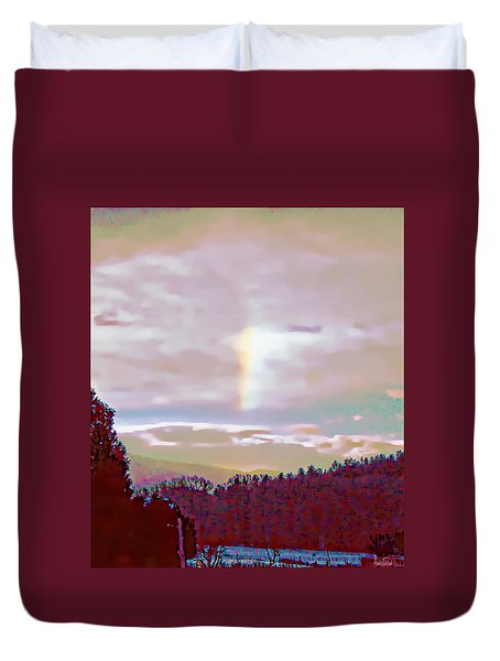 New Year's Dawning Fire Rainbow Duvet Cover by Anastasia Savage Ealy