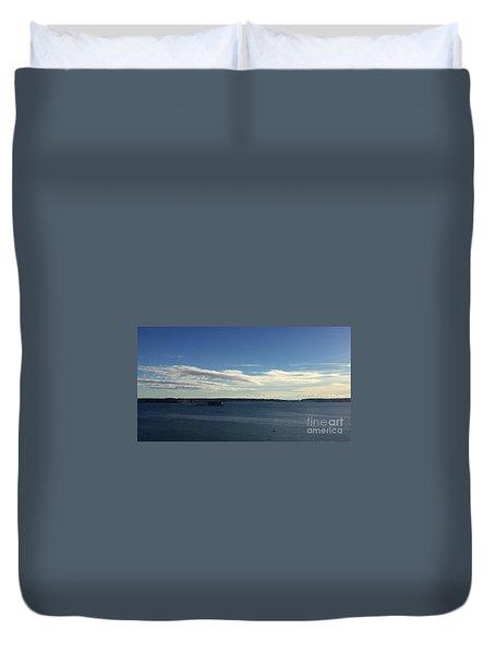 New Year's Day 2016 On Casco Bay, Portland, Maine Duvet Cover by Patricia E Sundik