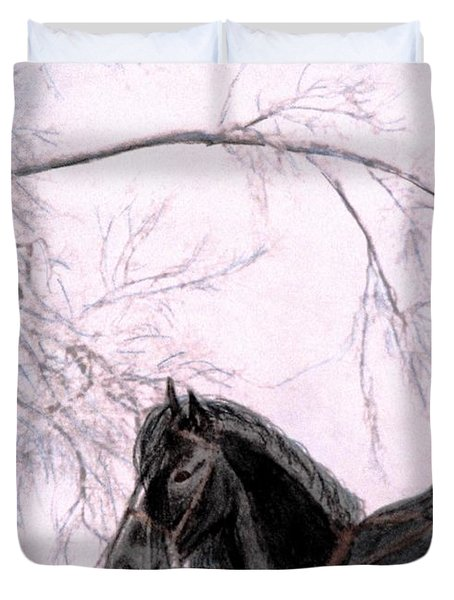 New Year's Resolution Duvet Cover by Angela Davies