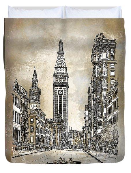 New York 1910 Duvet Cover