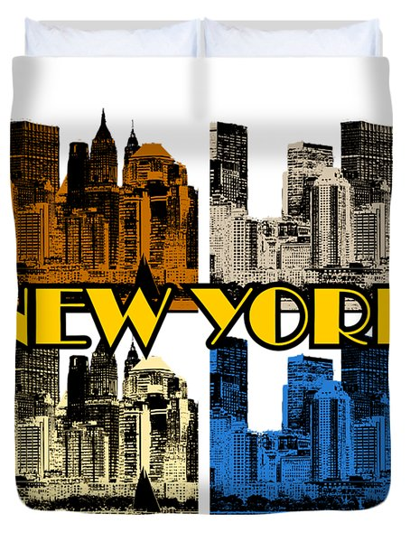 New York 4 Color Duvet Cover
