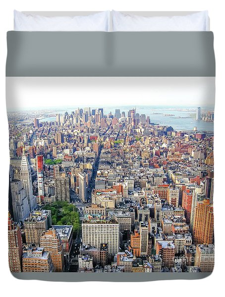 New York Aerial View Duvet Cover