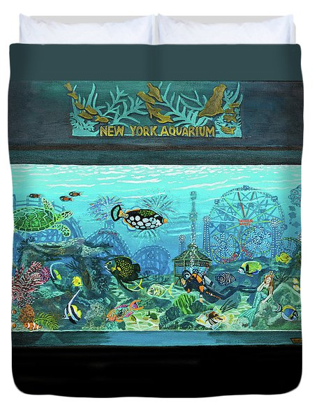 New York Aquarium Duvet Cover