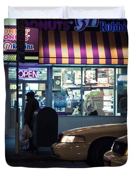 New York At Night  Duvet Cover