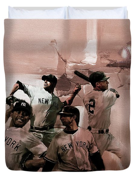 New York Baseball  Duvet Cover by Gull G