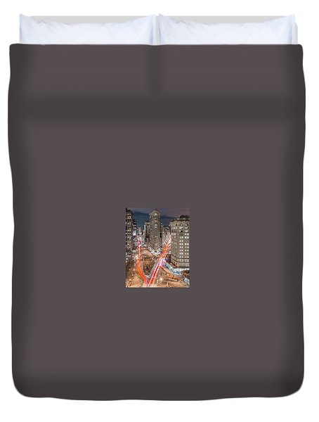 New York Big City Rush Hour Duvet Cover