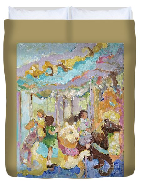 New York Carousel Duvet Cover