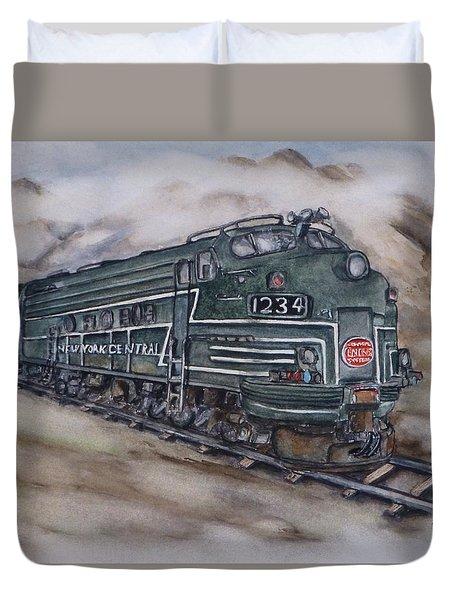 New York Central Train Duvet Cover