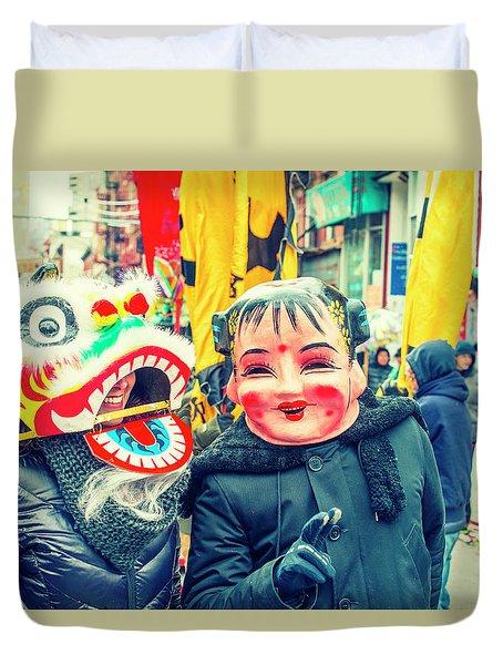 New York Chinatown Duvet Cover