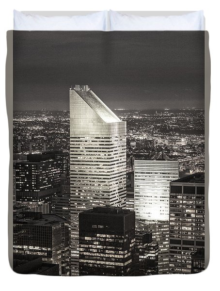 Duvet Cover featuring the photograph New York Citigroup Center  by Juergen Held