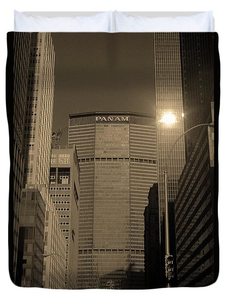 New York City 1982 Sepia Series - #7 Duvet Cover