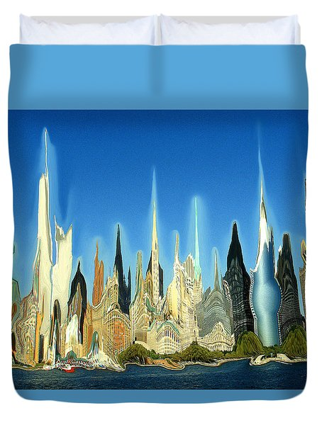 New York City 2100 - Modern Art Duvet Cover