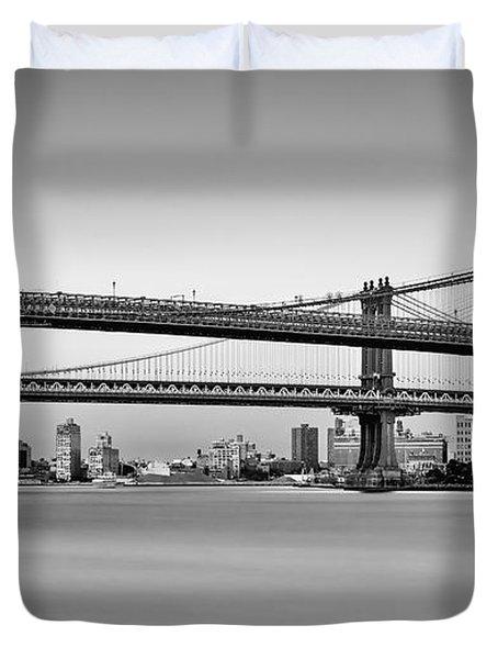 New York City Bridges Bmw Bw Duvet Cover