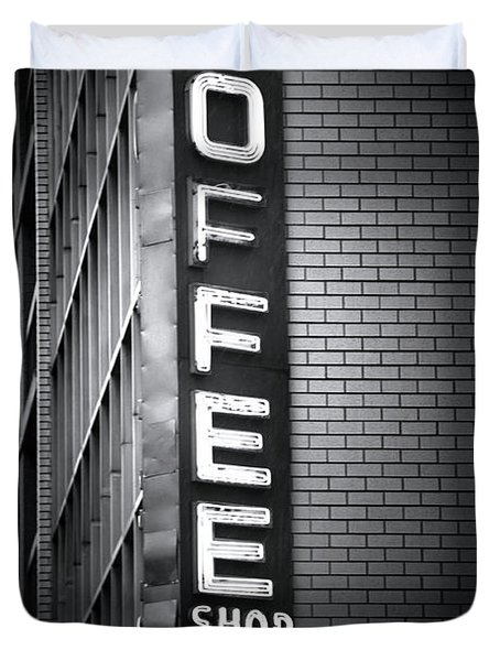 New York City Coffee House Duvet Cover