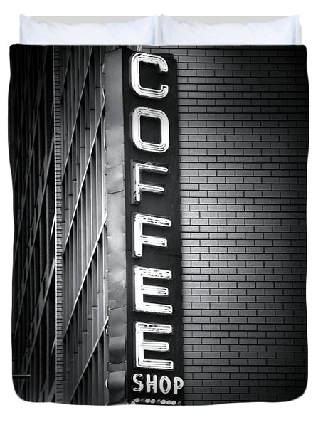 New York City Coffee House Duvet Cover