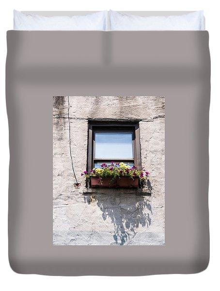 New York City Flower Box Duvet Cover