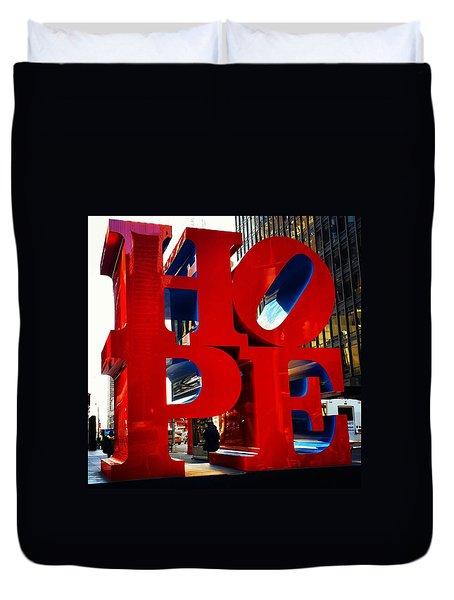 New York City - Hope Duvet Cover