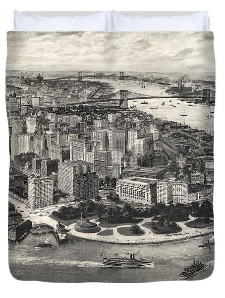 New York City Manhattan 1905 Duvet Cover