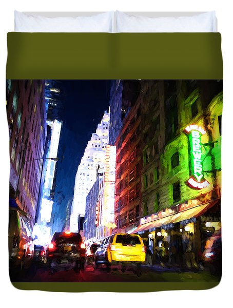 New York City Duvet Cover by Matthew Ashton
