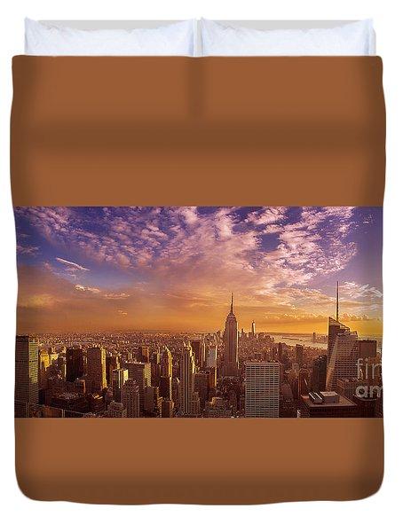 New York City Panorama Duvet Cover