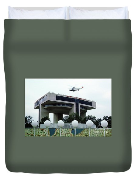 New York City Port Authority Helicopter Pad, New York World's Fa Duvet Cover
