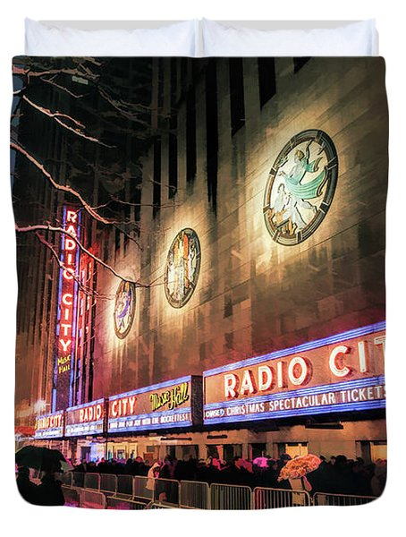 New York City Radio City Music Hall Duvet Cover