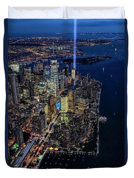New York City Remembers 9-11 Duvet Cover
