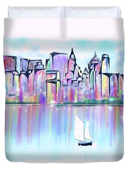 New York City Scape Duvet Cover