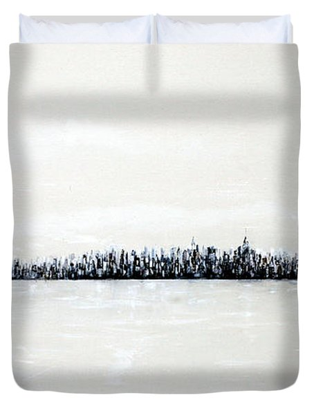 New York City Skyline 48 Duvet Cover