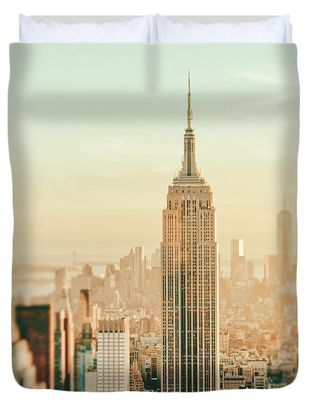 New York City - Skyline Dream Duvet Cover by Vivienne Gucwa