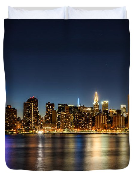 New York City Skyline Duvet Cover by Rafael Quirindongo
