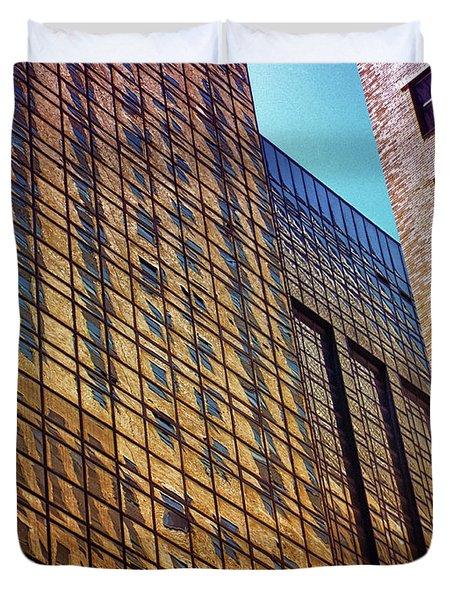 New York City Skyscraper Art 3 Duvet Cover