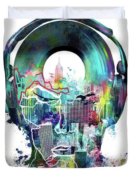 New York City Sound 2 Duvet Cover