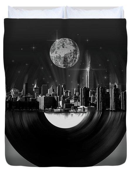 New York City Sound 5 Duvet Cover