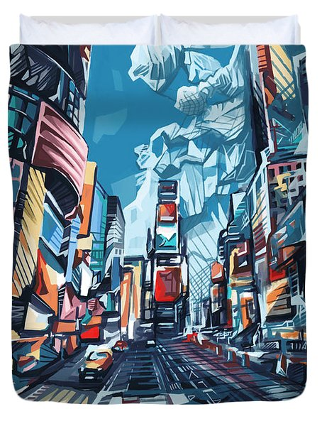 New York City-times Square Duvet Cover