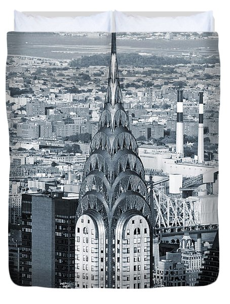New York City - Usa - Chrysler Building Duvet Cover