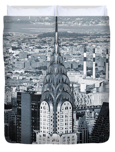 New York City - Usa - Chrysler Building Duvet Cover
