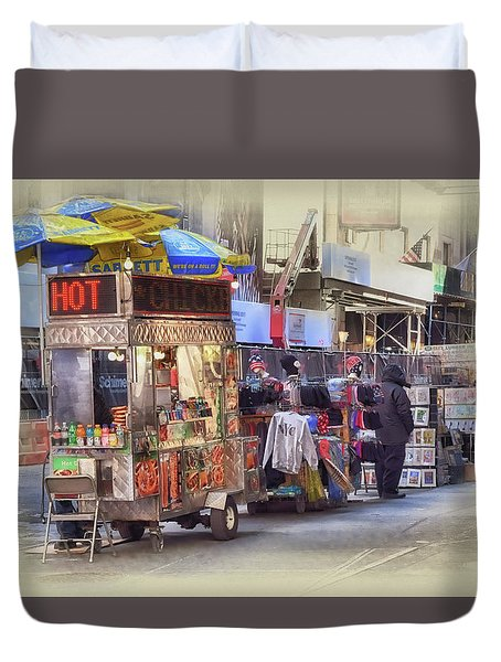 New York City Vendor Duvet Cover